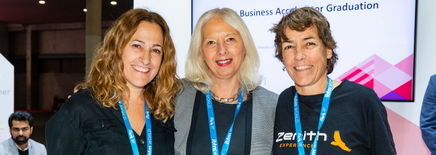 Zenith Experience stands with their mentor Jacki Hulbert